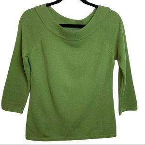 Ann Taylor Cashmere Soft Spring Green Top Sz Small